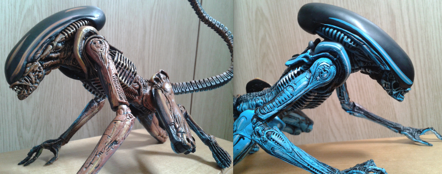 NECA Alien 3 Figure. Video Game Color
