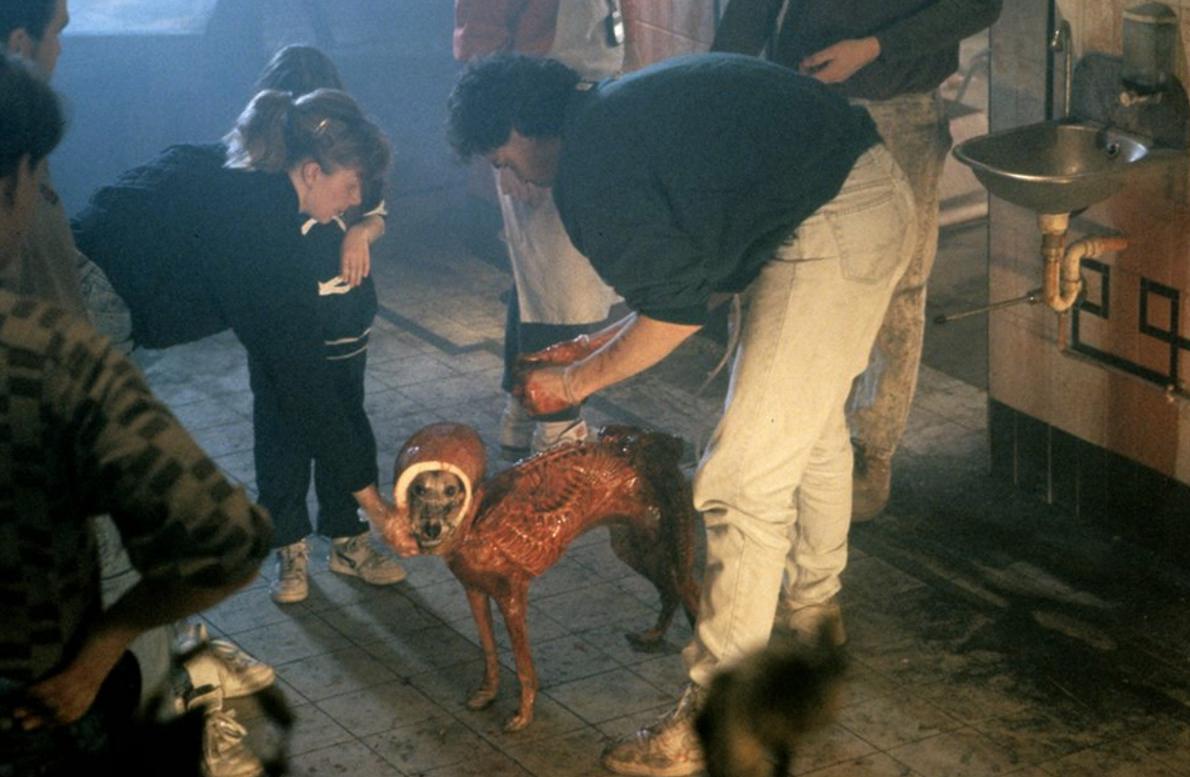Alien 3 Dog Costume On Set 1992.