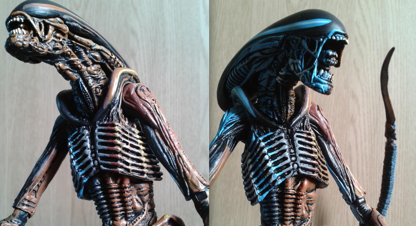 NECA Video Game Alien. Face Detail