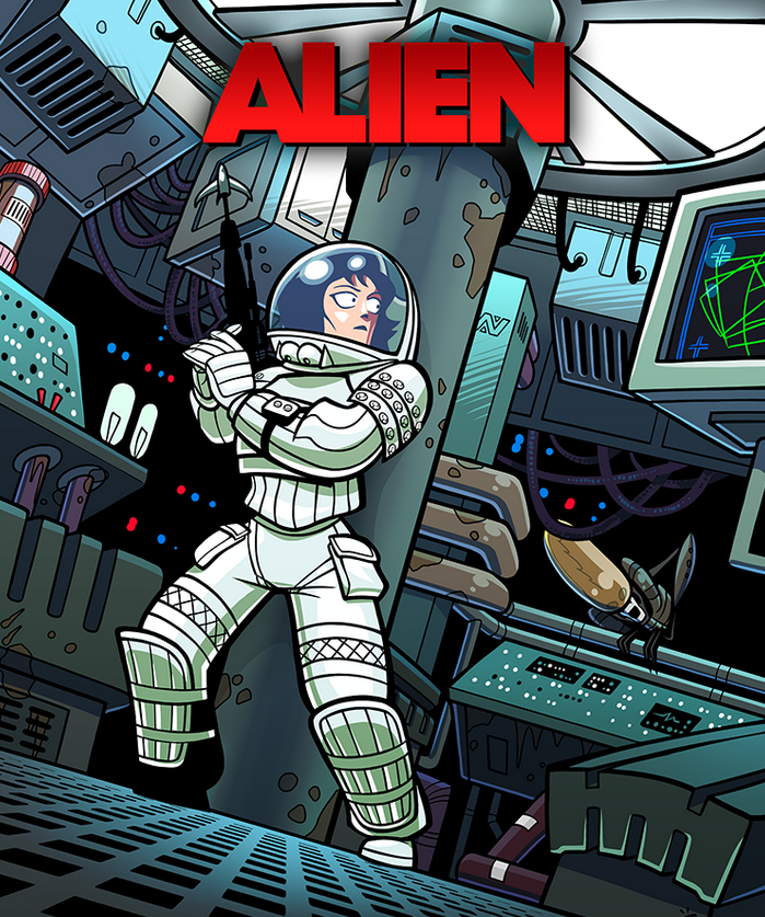 Alien Cartoon Poster