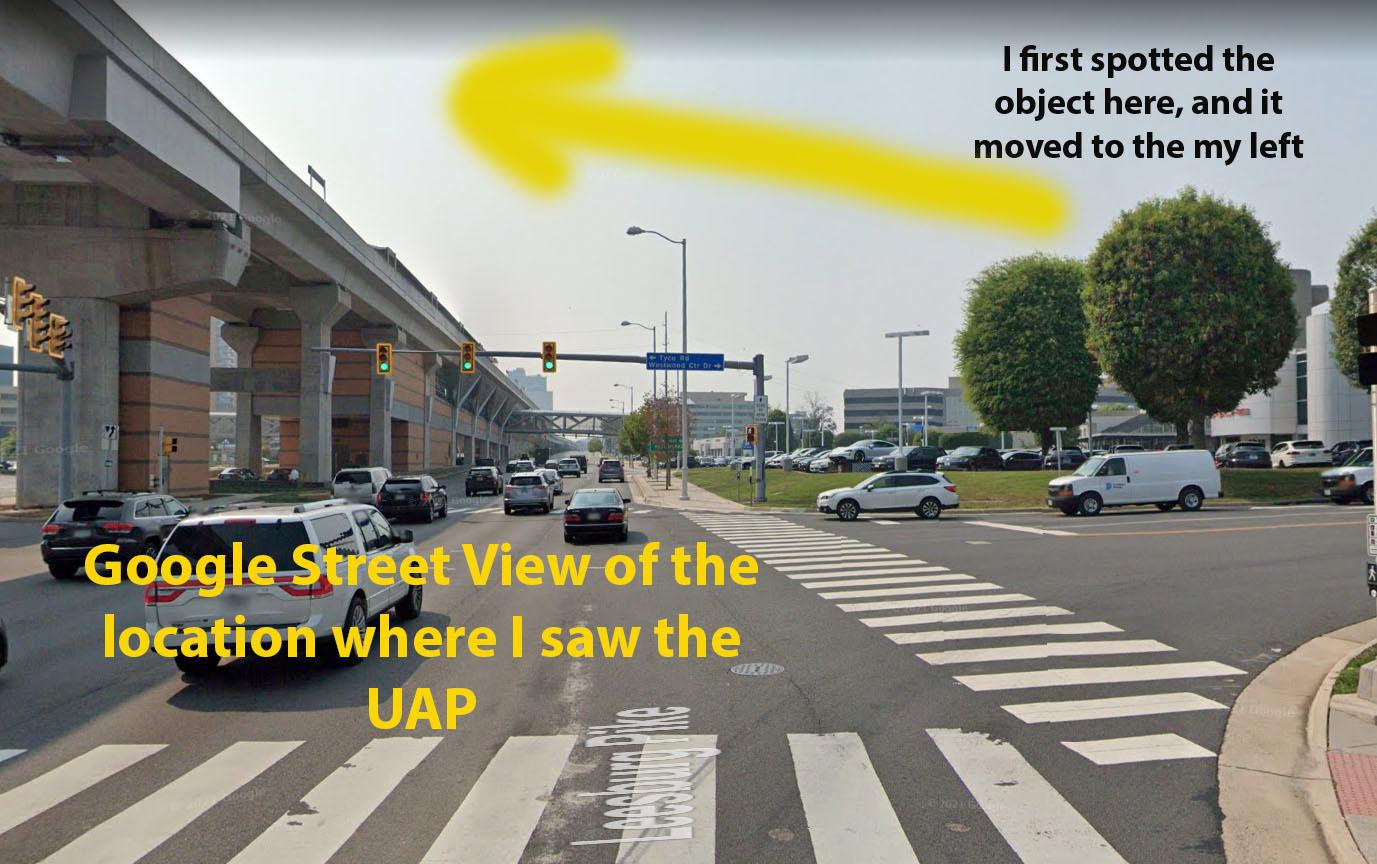 Alien UFO Sighting Google Street View