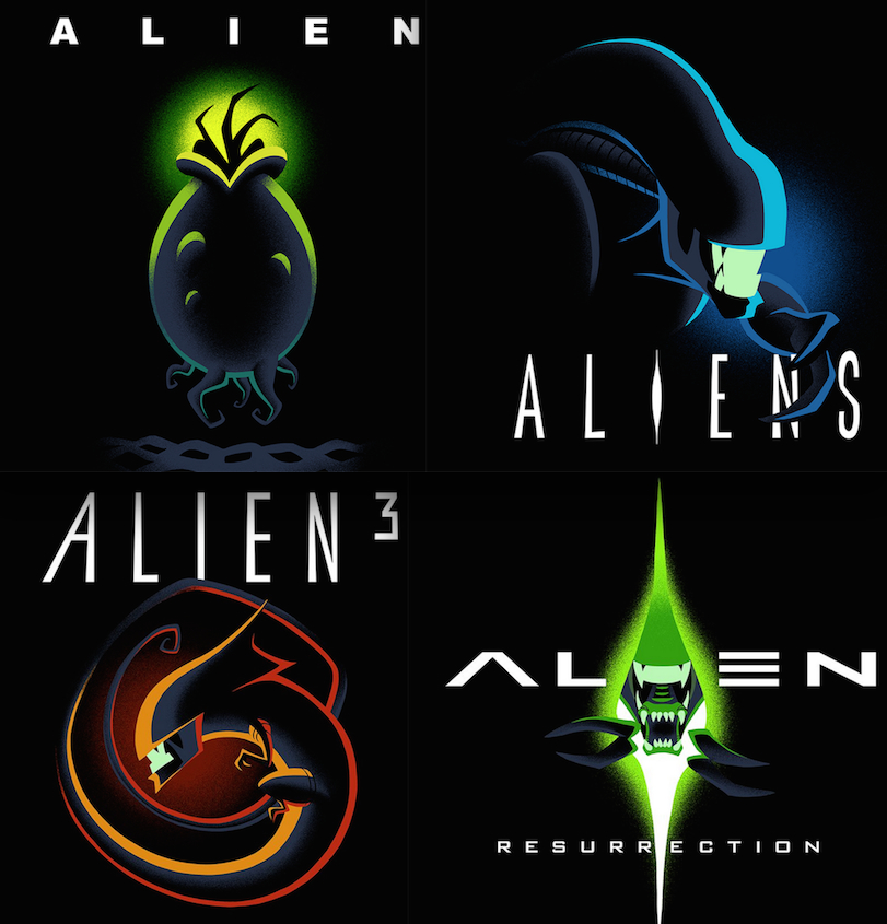 Aliens Cartoon Posters