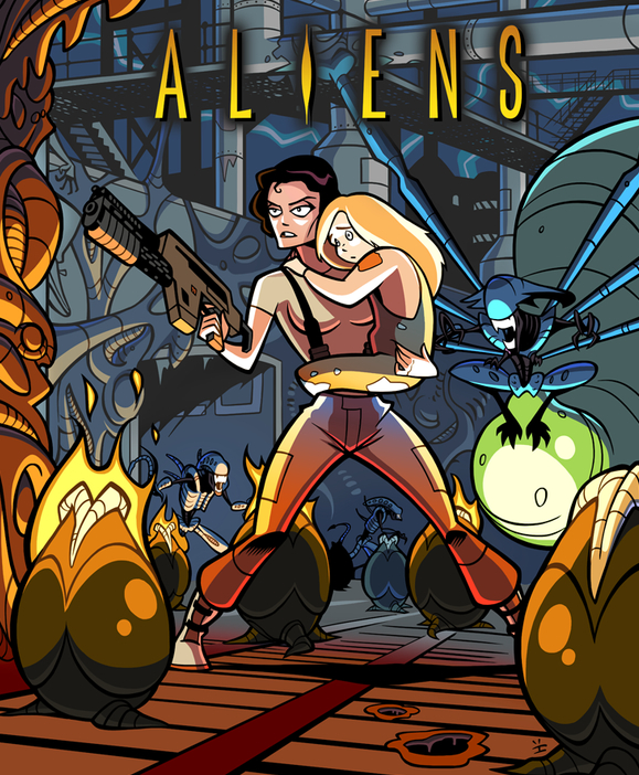 Aliens Cartoon Poster