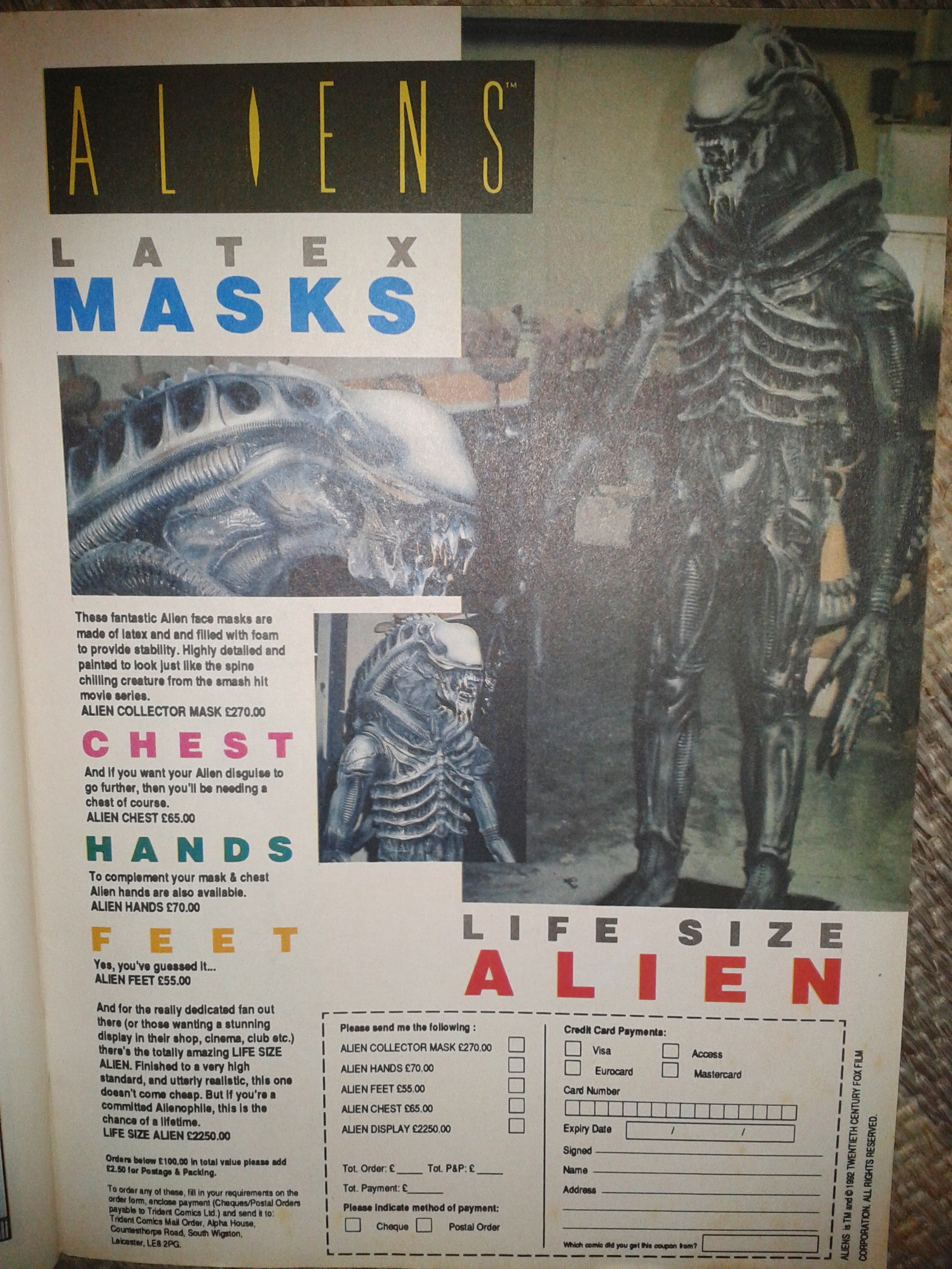 Aliens Merchandise Advert - 1990s