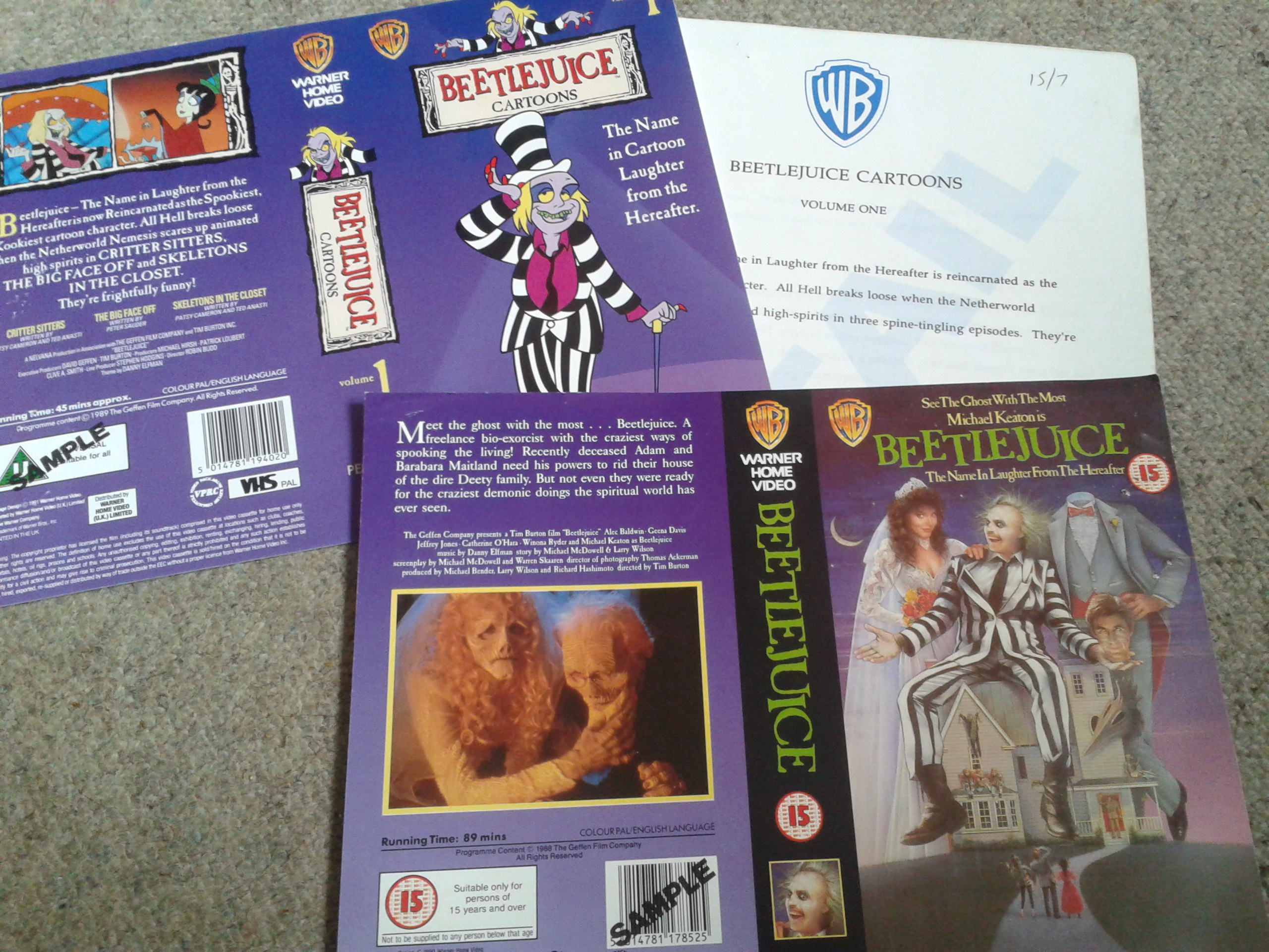 Beetlejuice - VHS Promo Sleeves