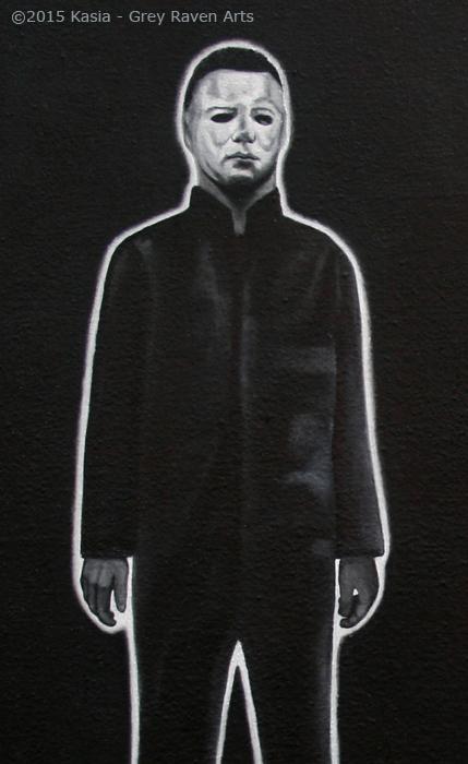 Blackest Eyes Portrait Halloween - Kasia Grey Raven Arts