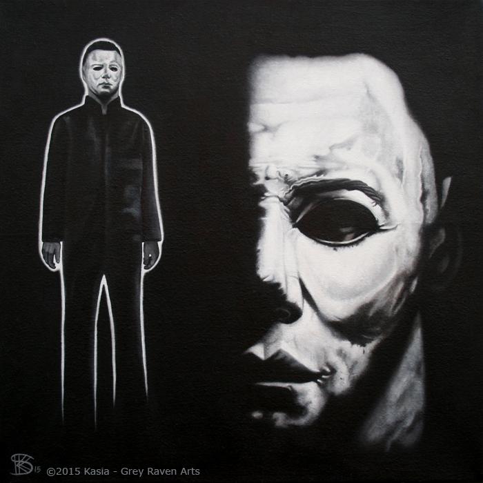 Halloween Blackest Eyes Portrait - Kasia Grey Raven Arts