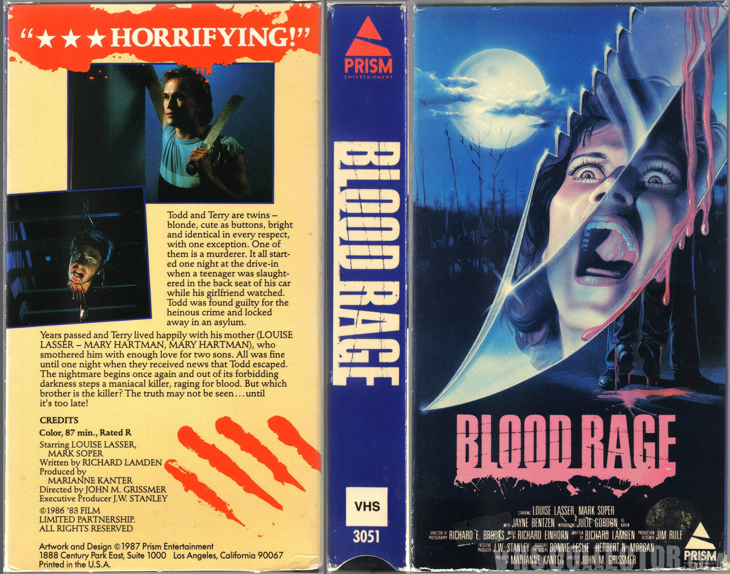 Blood Rage VHS