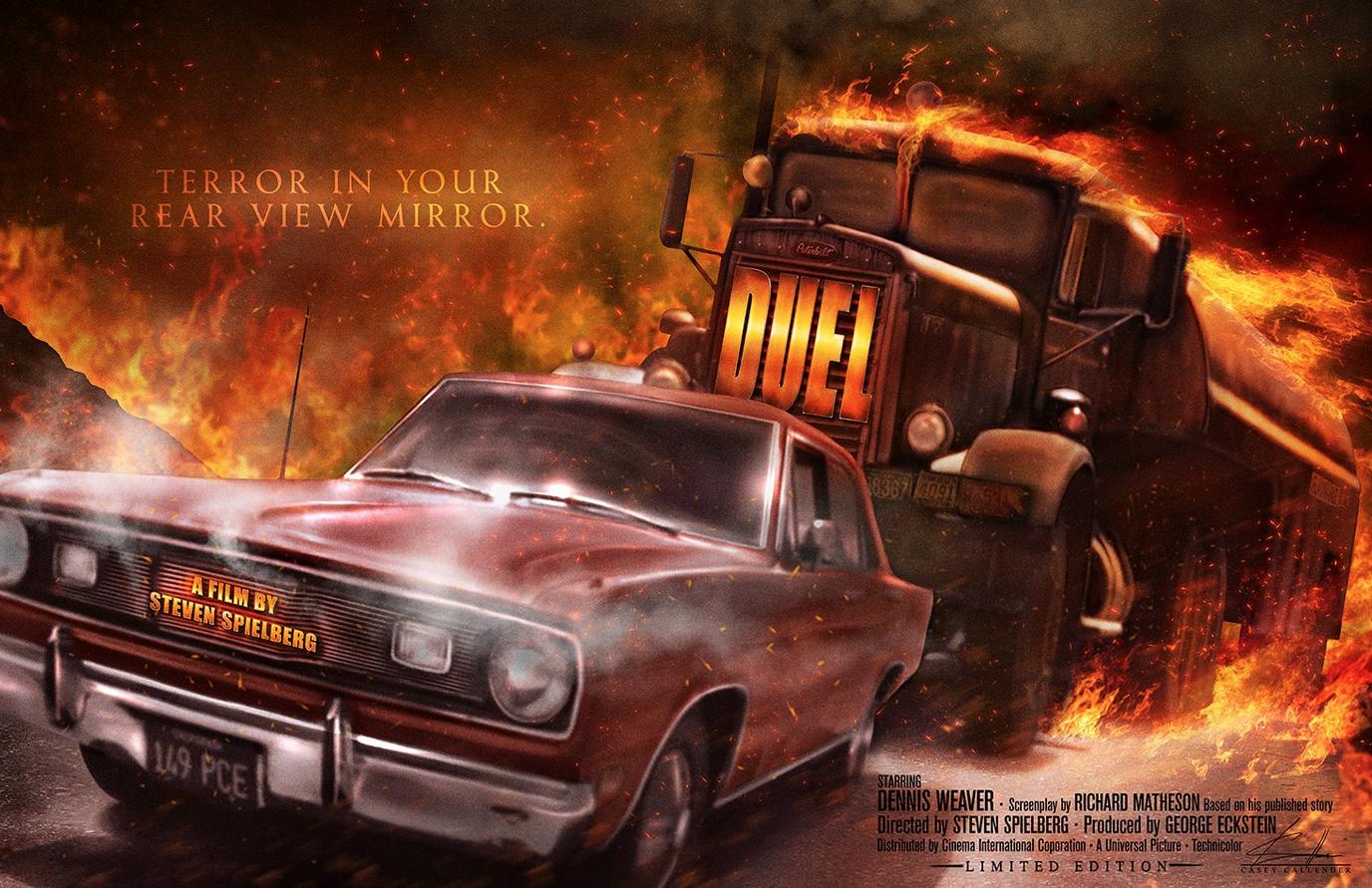 Casey Callender Duel Poster Art