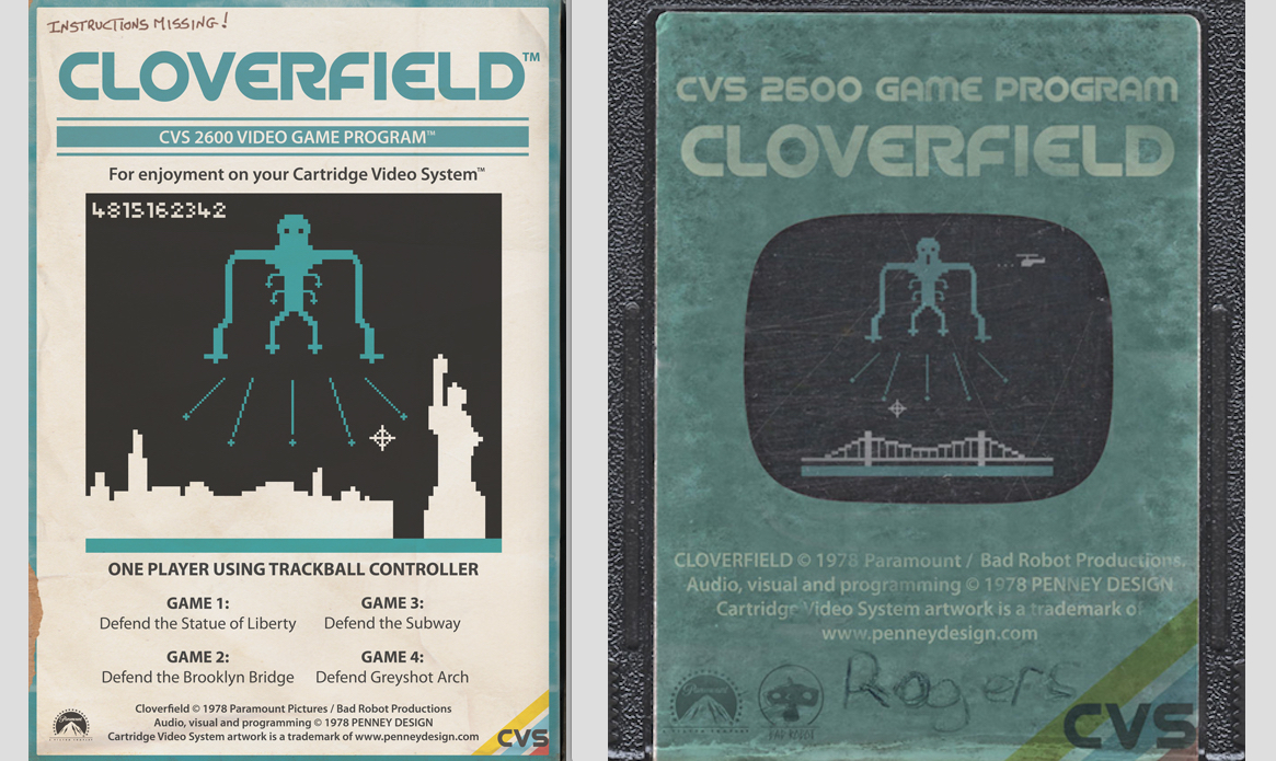 Alternative Art List - Cloverfield Penney Design