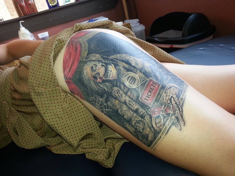 Creepshow Tattoo Closeup