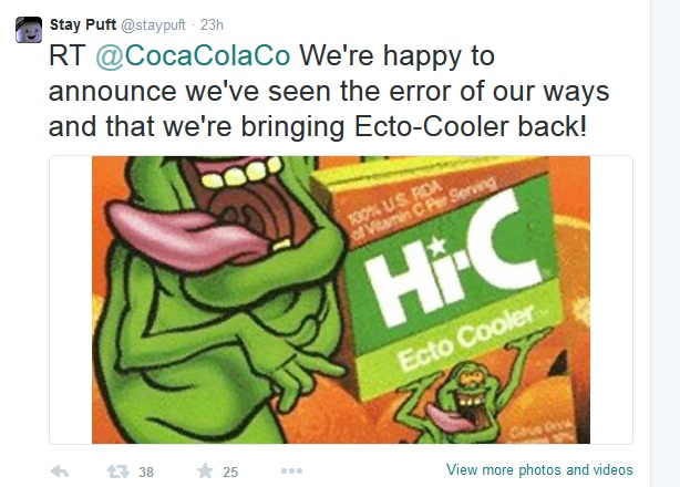 Ecto Cooler return