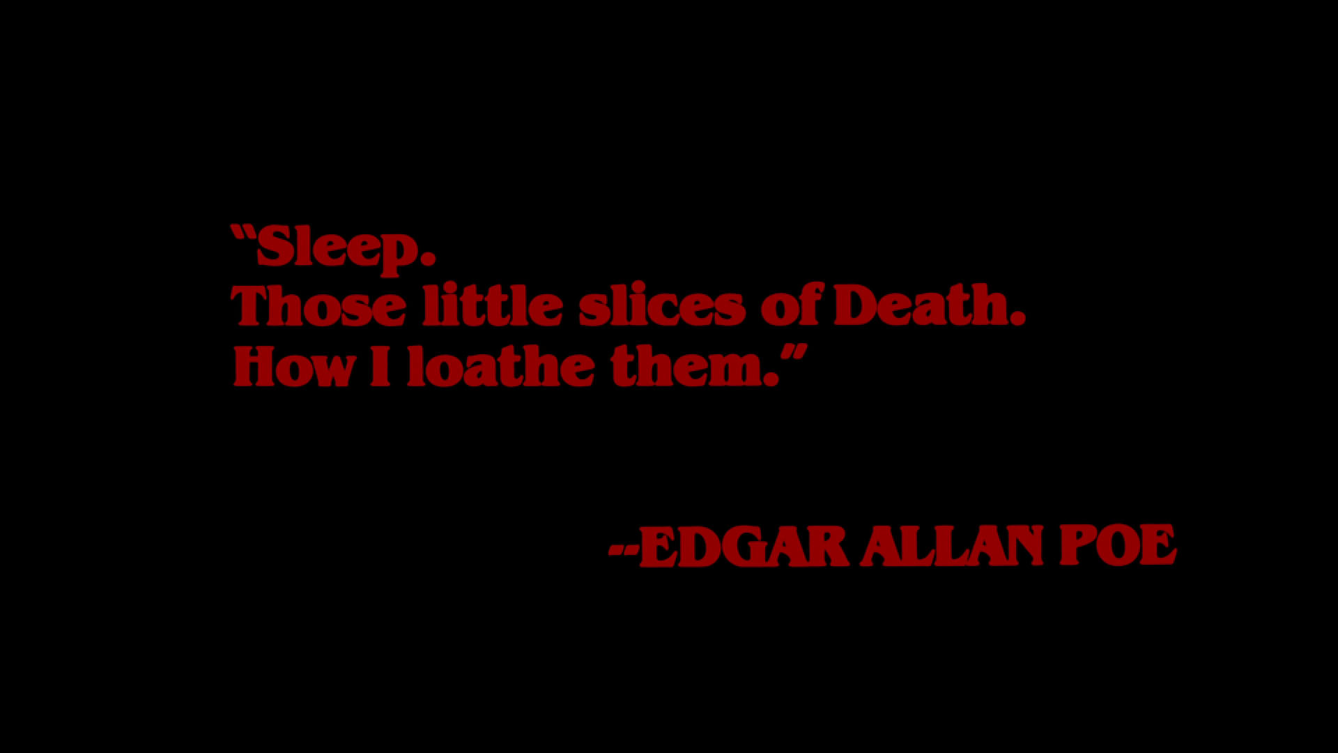 Edgar Allan Poe Sleep Quote