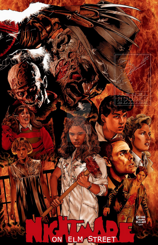 Poster Art List : Nightmare on Elm Street Nathan Thomas Milliner