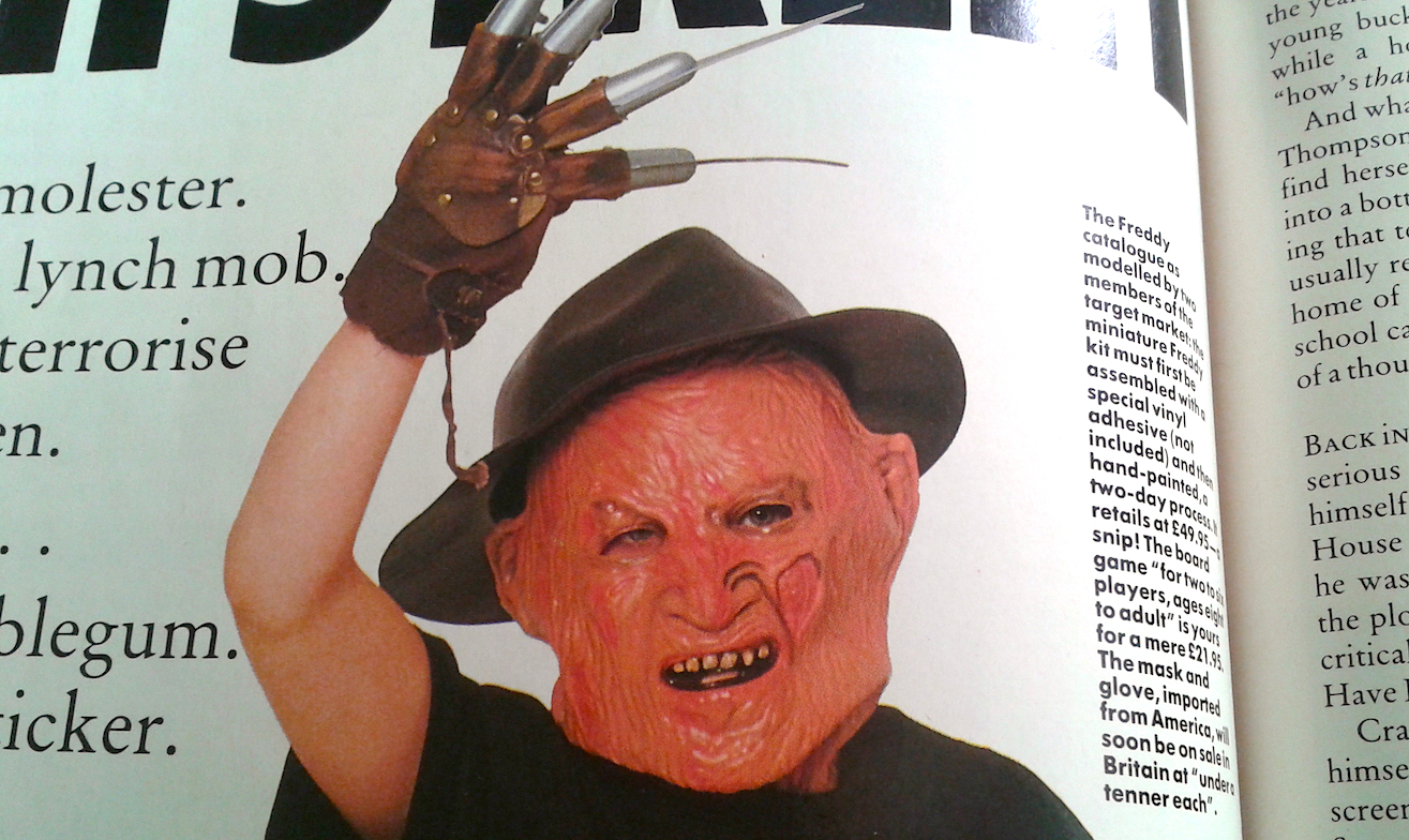 Empire Magazine Nighmare On Elm Street Toy article