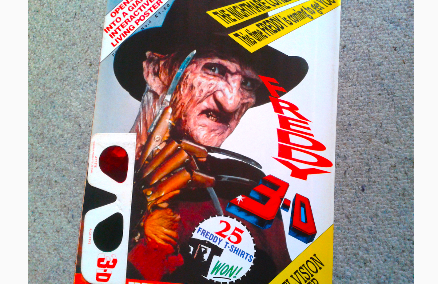 Freddy Krueger 3D Uk Poster Magazine - Halloween Love Review