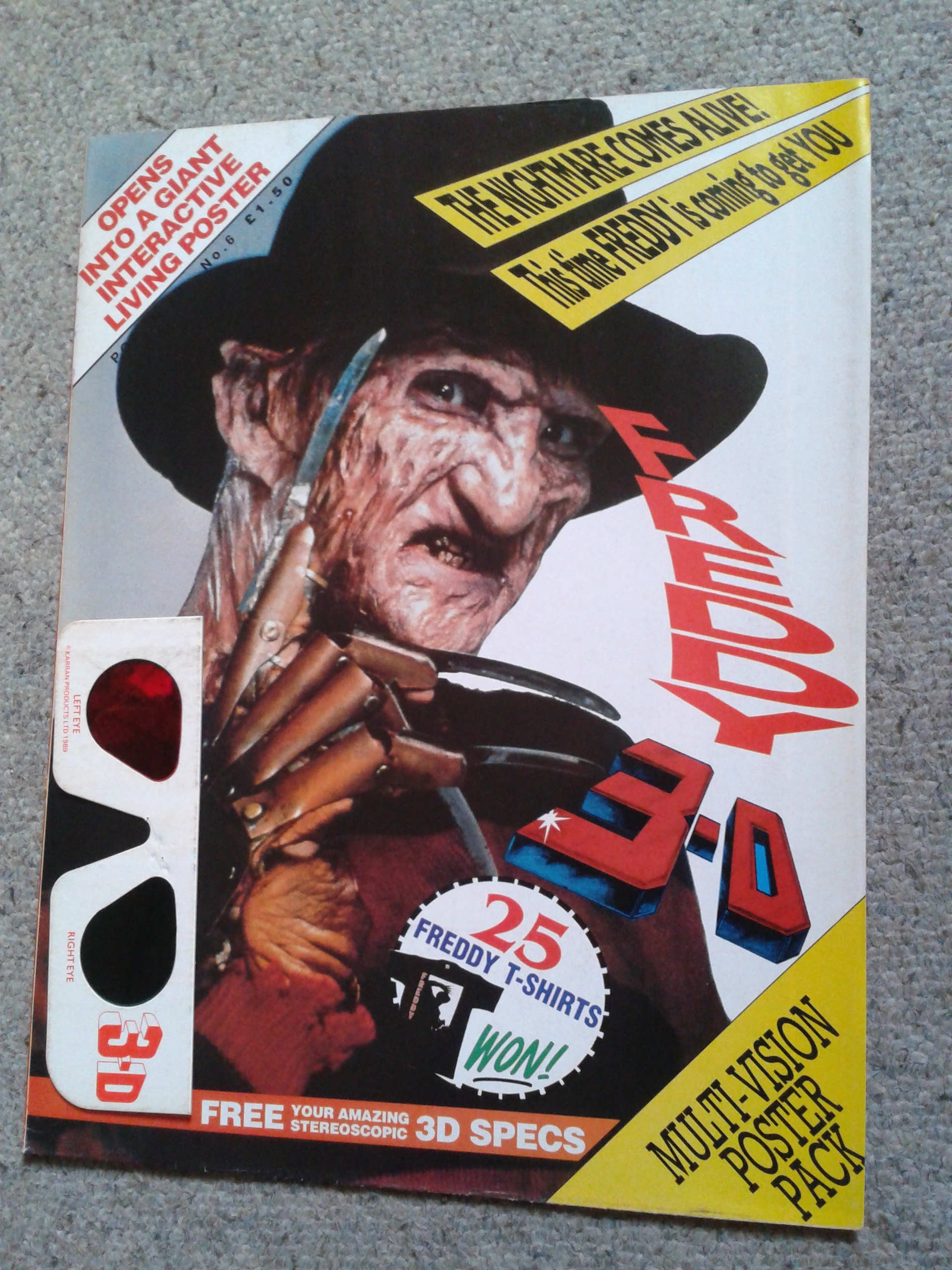 Freddy 3D Poster Magazine - Front Cover