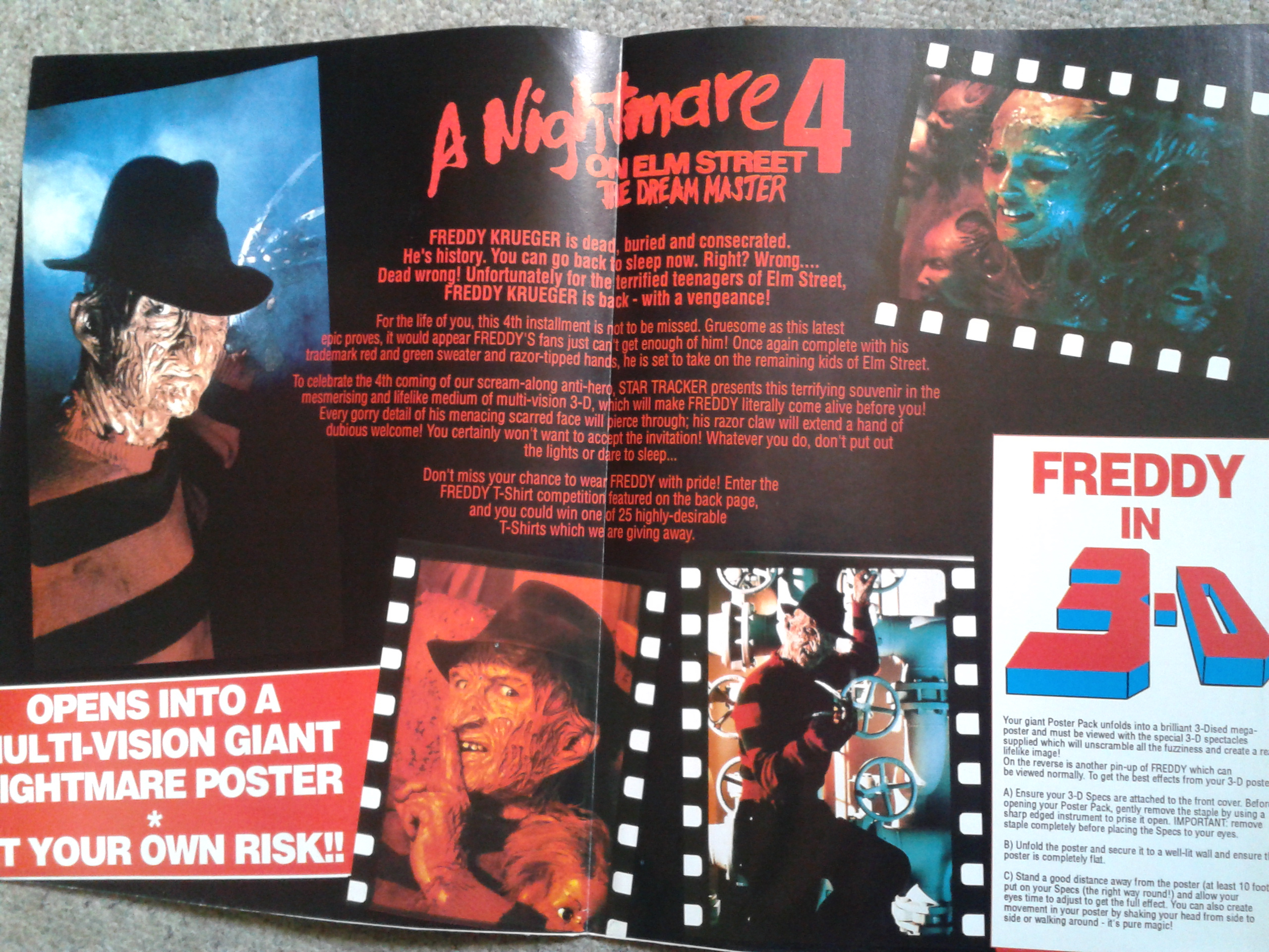 Freddy 3D Poster Magazine - Interior Pages