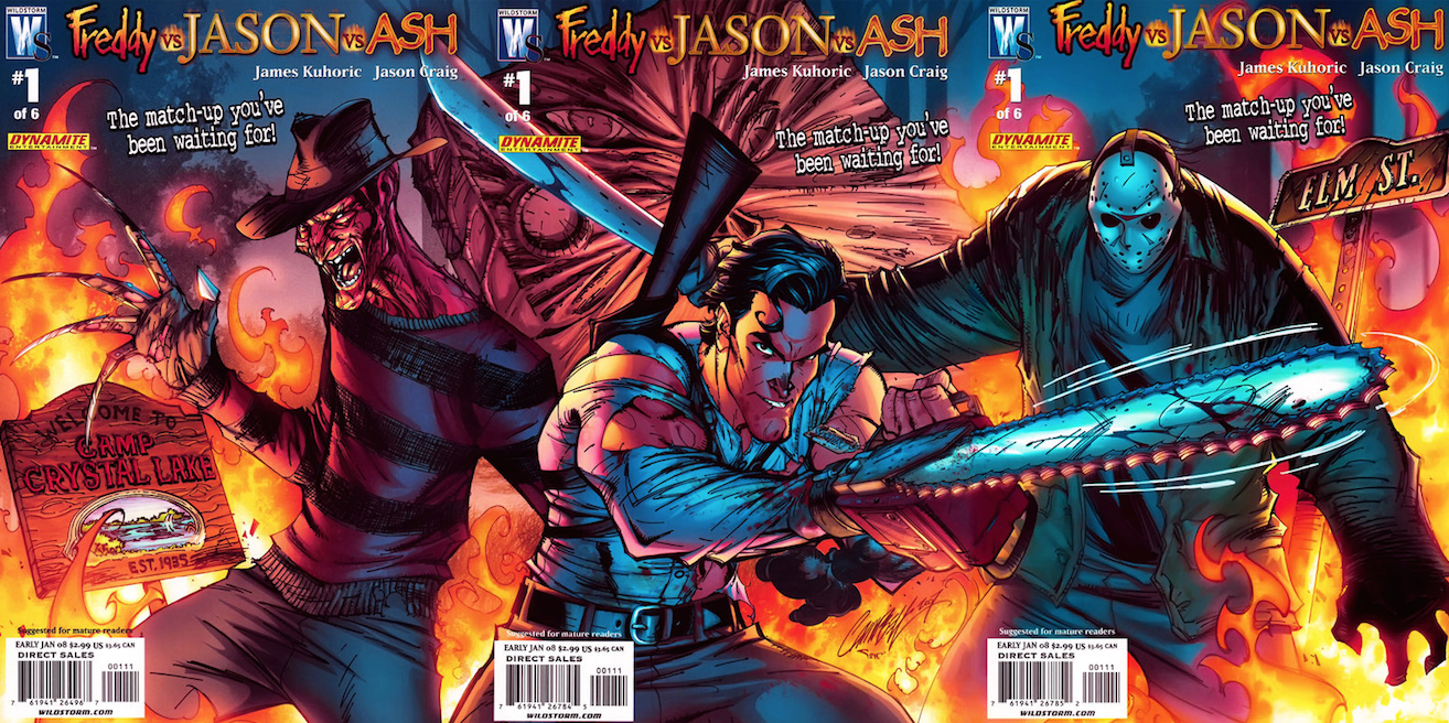 Freddy Vs Jason Vs Ash : Issue 1 Cover Art