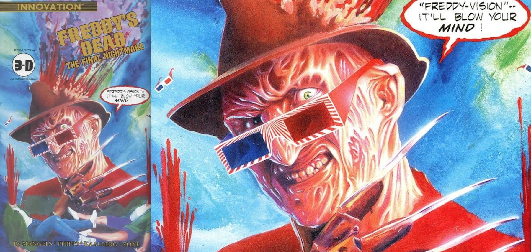 Freddy's Dead Issue 3 : 3-D Edition Cover Art