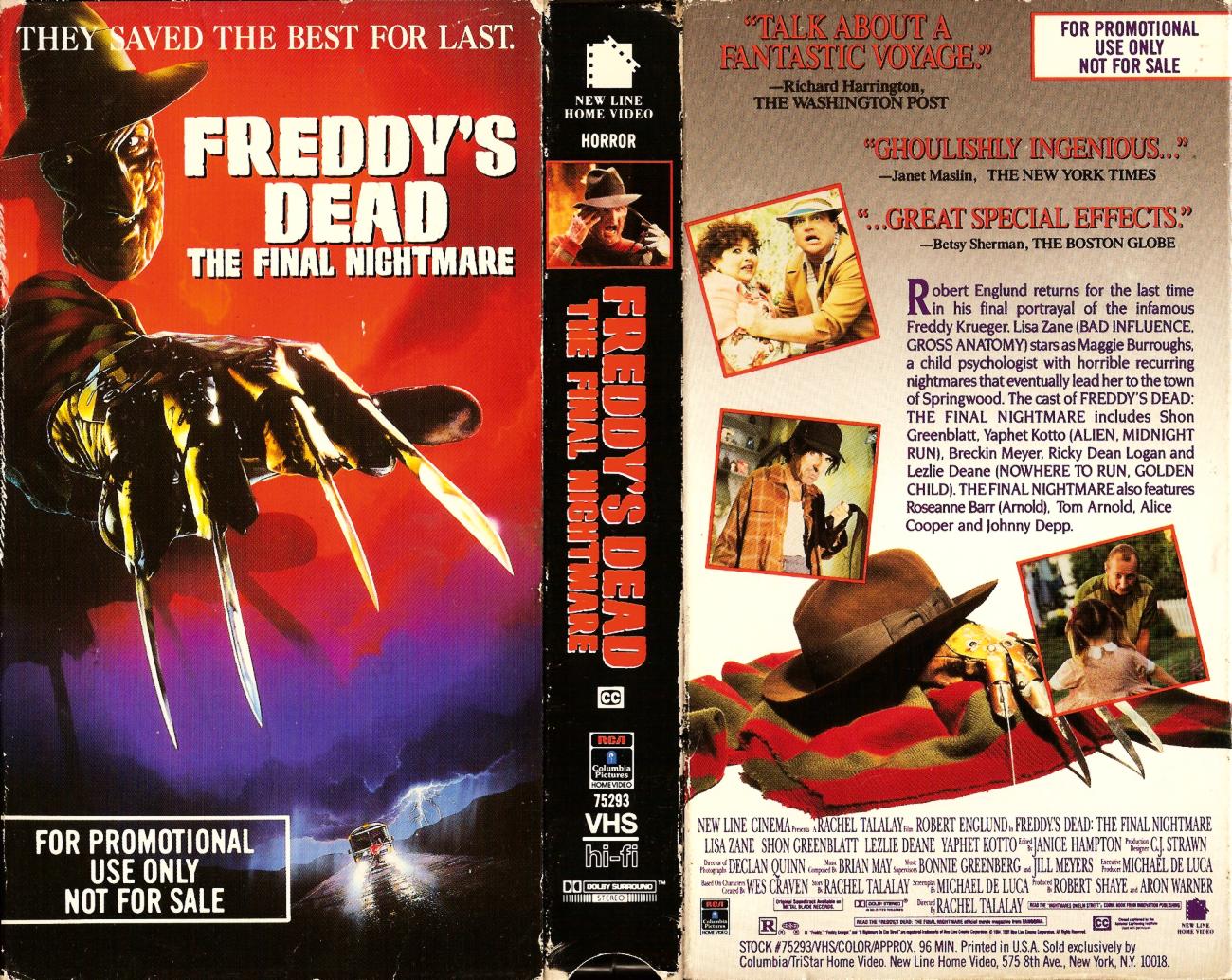 Freddy's Dead VHS