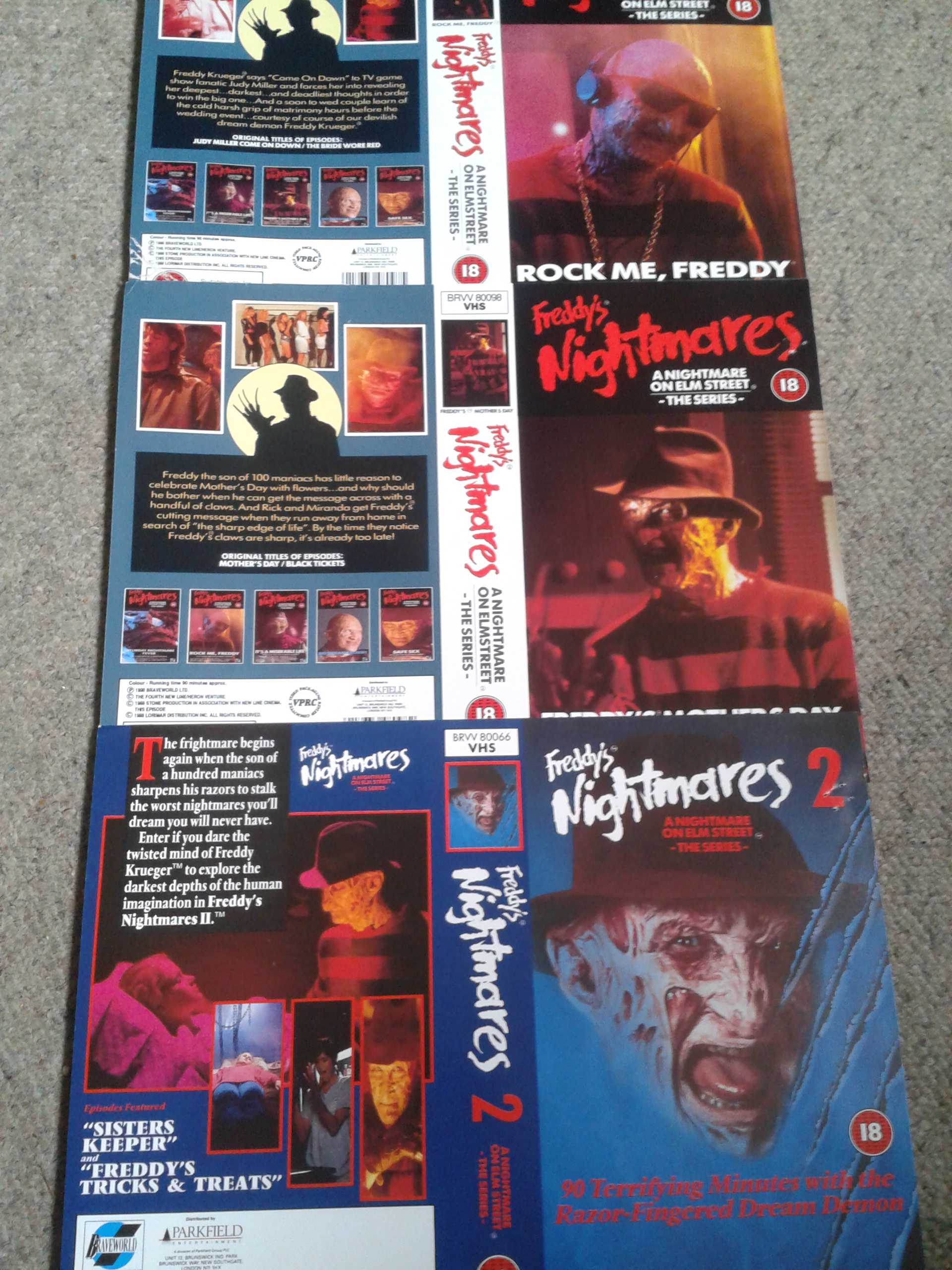 Freddy's Nightmares - VHS Promo Sleeves