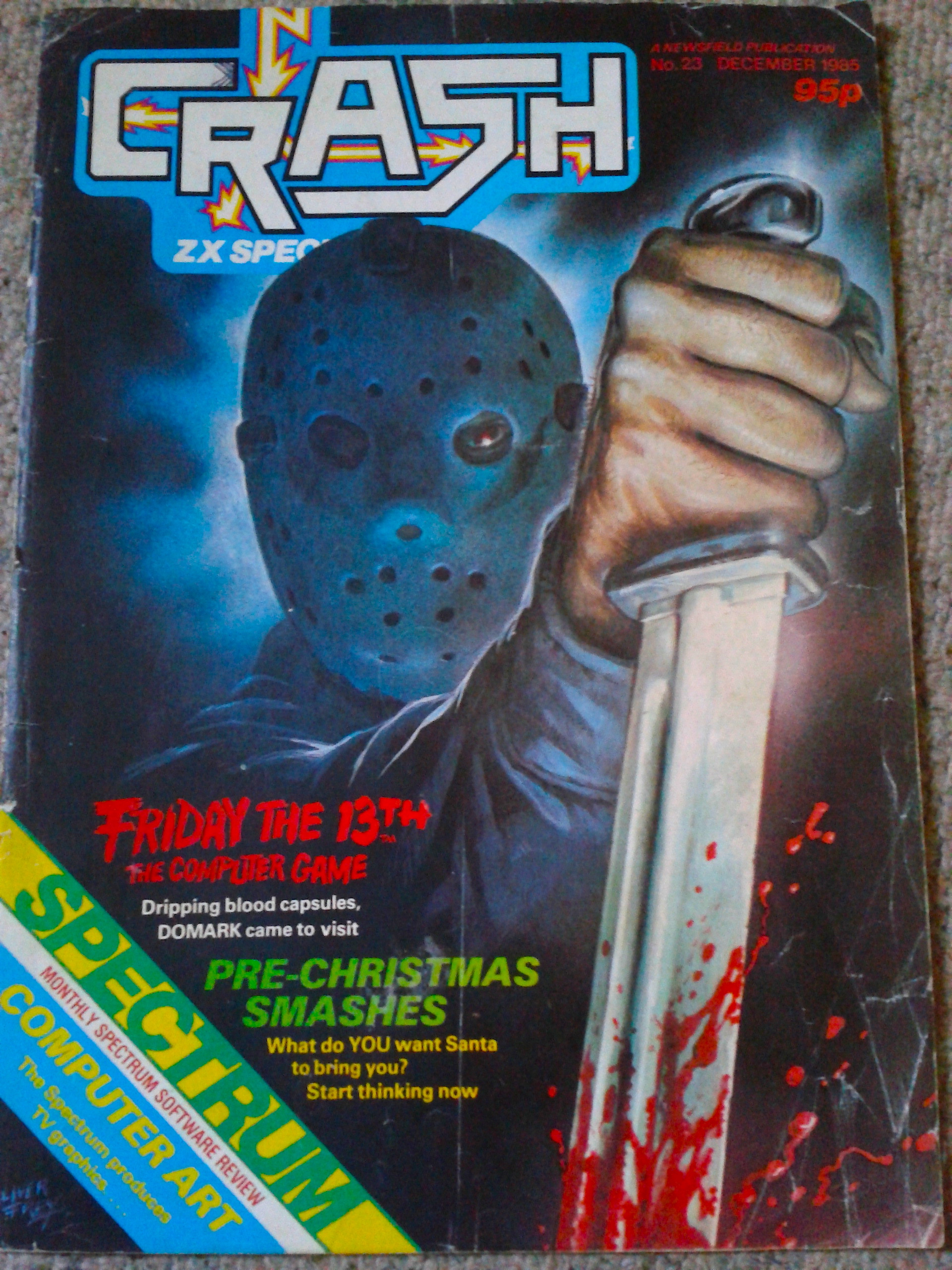 Crash Magazine 23 1985 . Friday The 13th Review