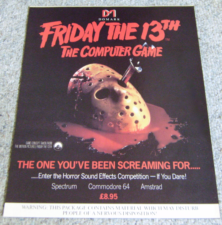 Friday The 13th Game Advert