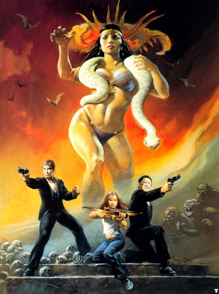 Frazetta From Dusk Till Dawn Painted Poster Art