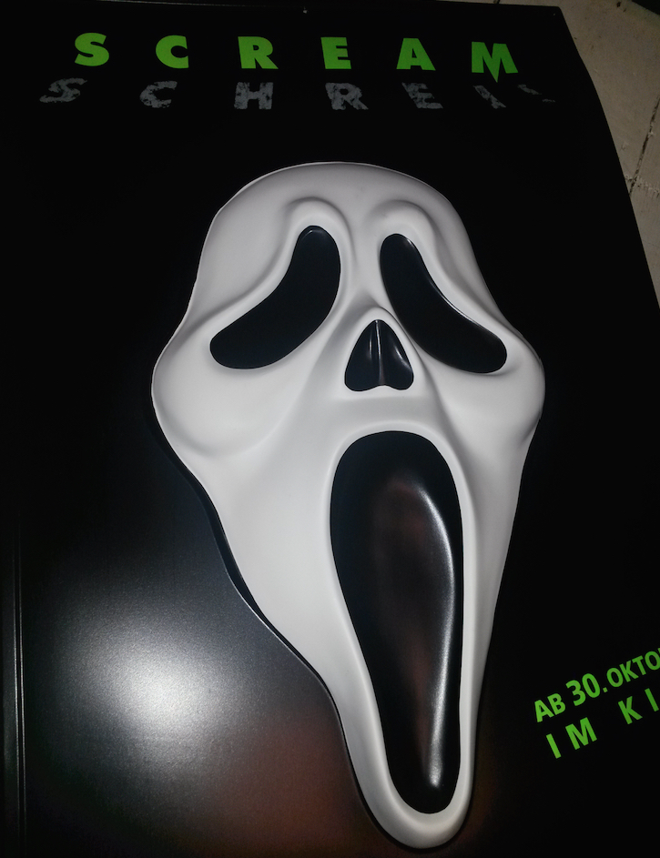 German 3D Scream Cinema Poster