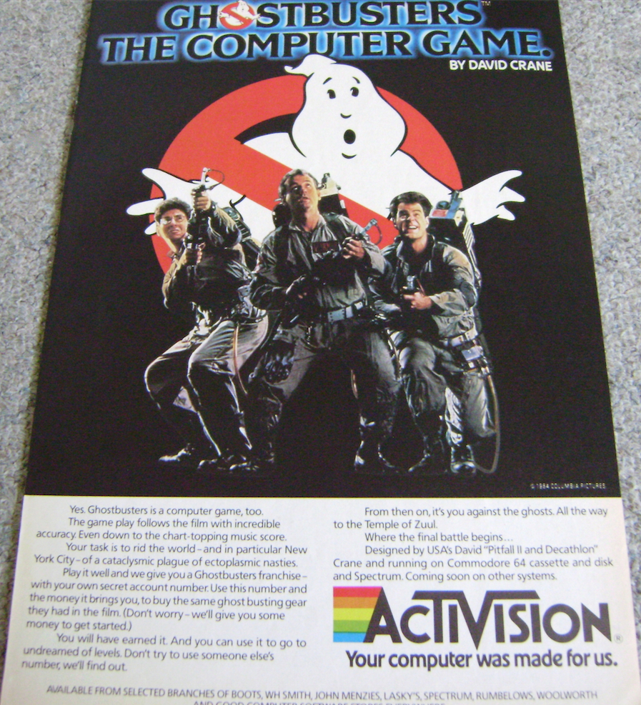 Ghostbusters Game Advert 1984.