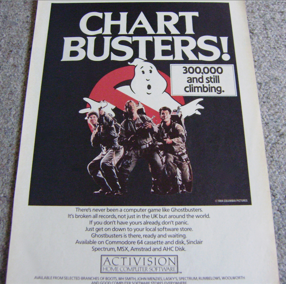 Ghostbusters Game Sales Ad.