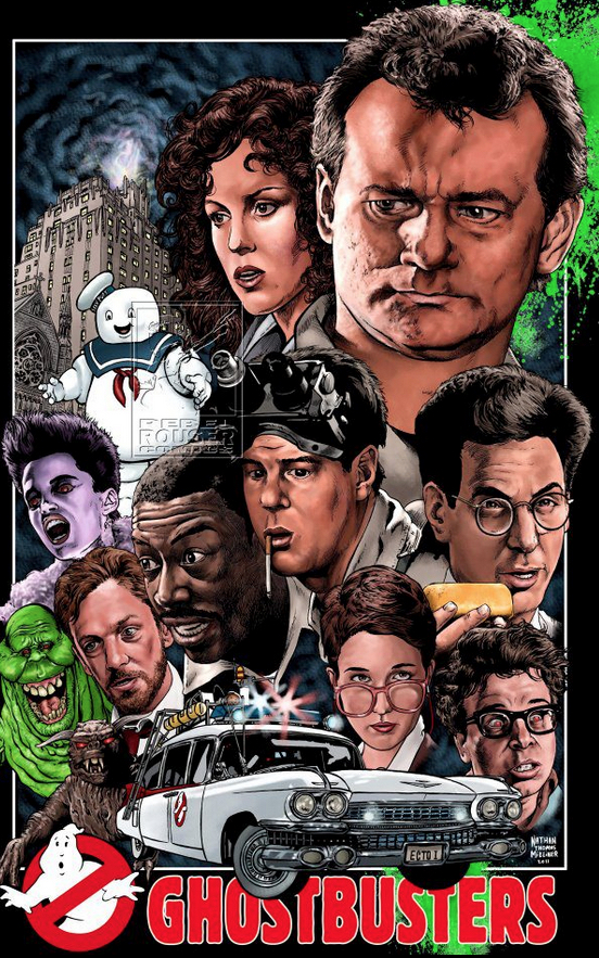 Ghostbusters Alternative Poster Art List: Nathan Thomas Milliner