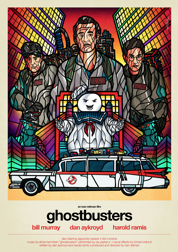 Ghostbusters Poster Art: Van Orton Design