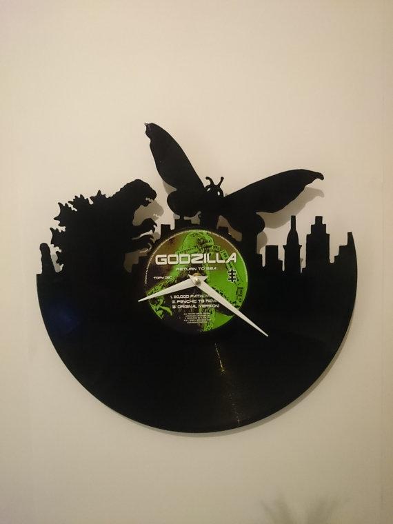 Godzilla v Mothra Clock