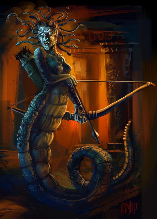 Grimbro Medusa art