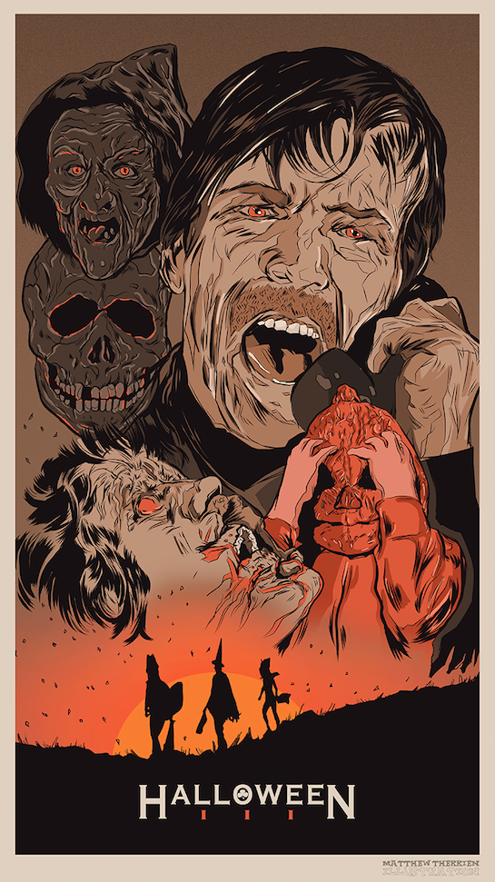 Poster Art : Halloween 3 Matthew Therrien