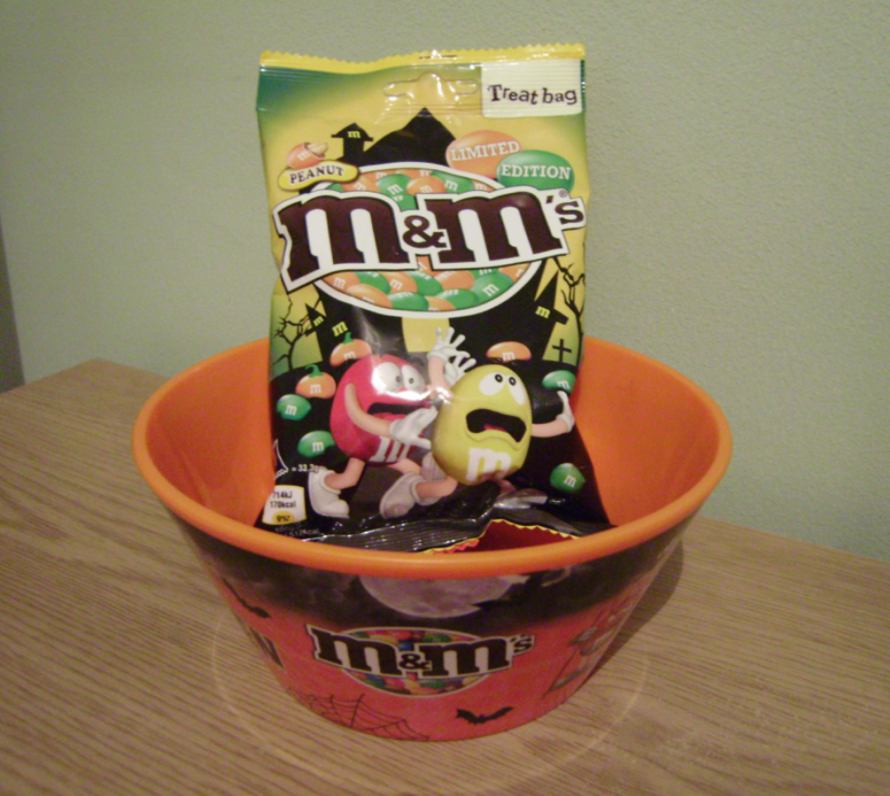 Halloween M&M's Bowl