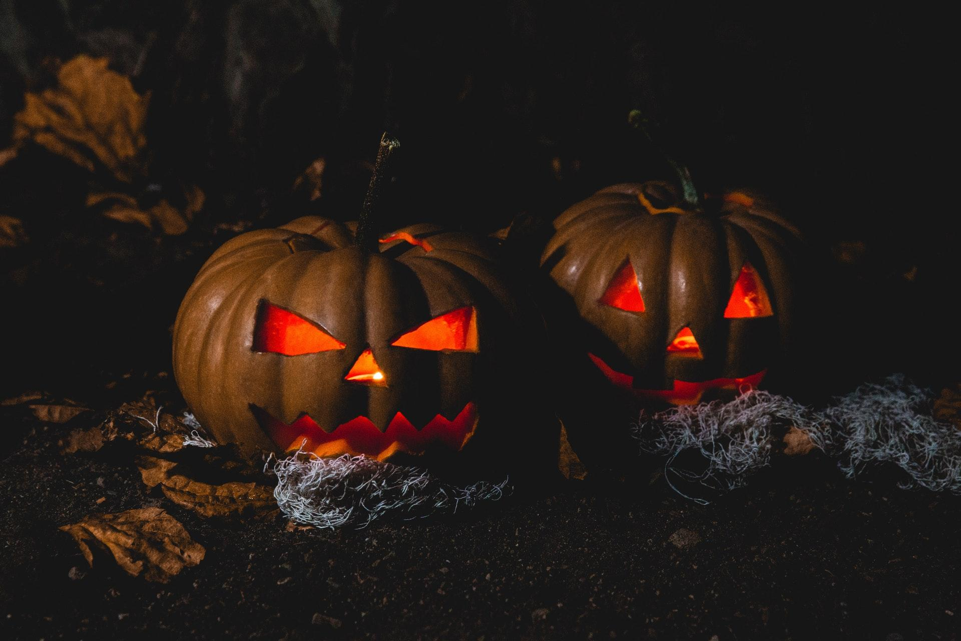 Halloween Two Pumpkins