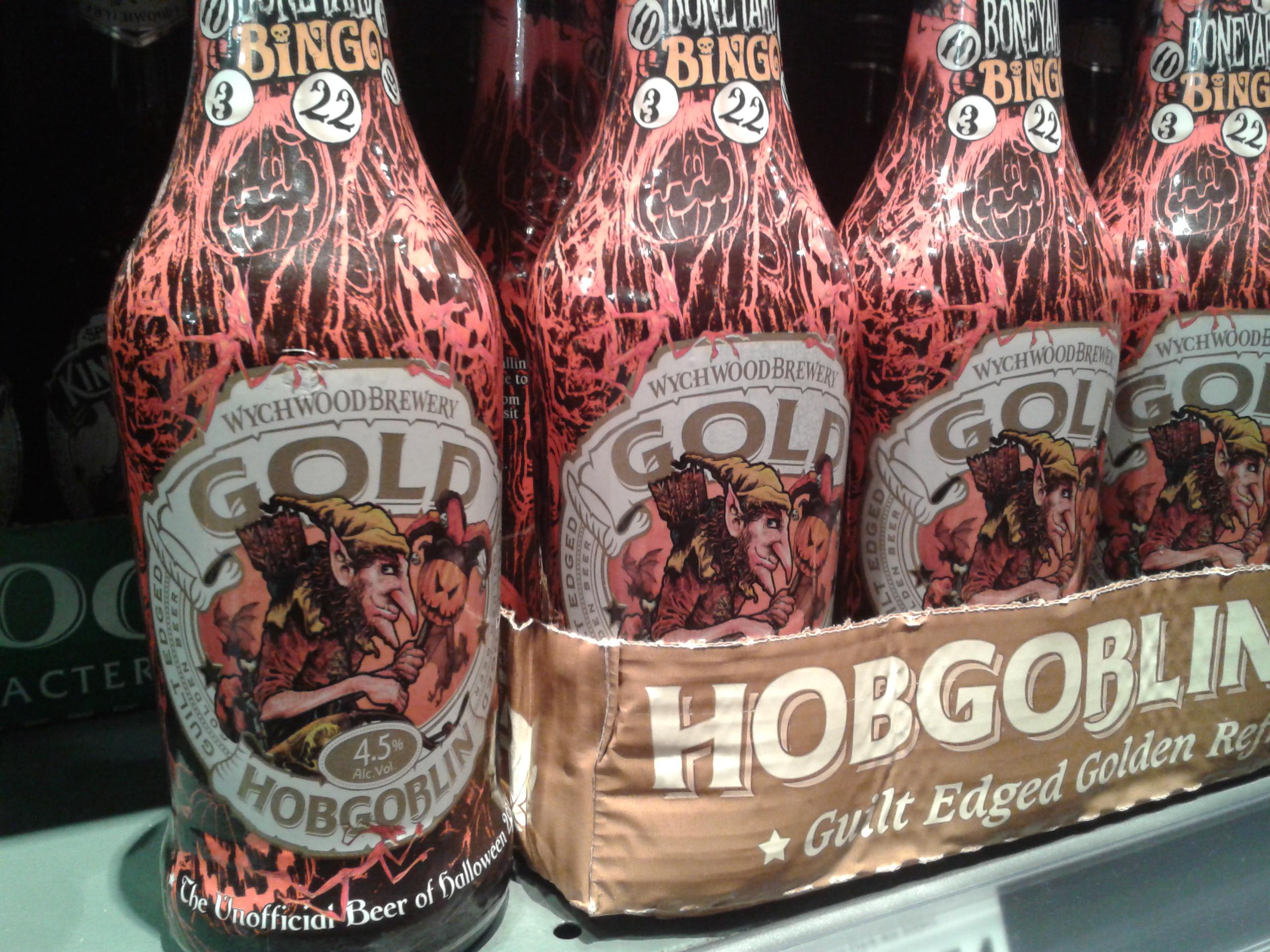 Hobgoblin Gold Beer Bottles - Halloween 2016.
