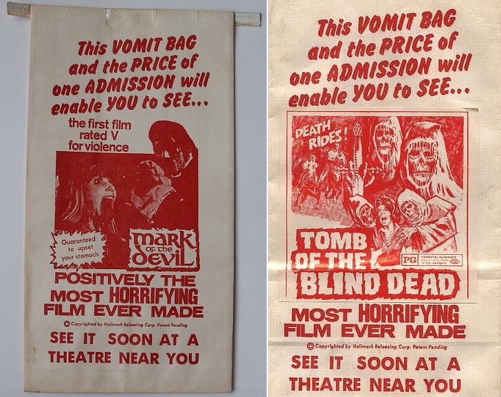 horror barf bag
