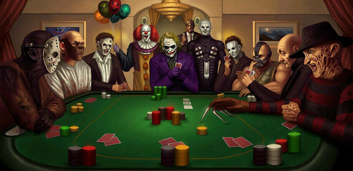 Horror Icons Playing Card