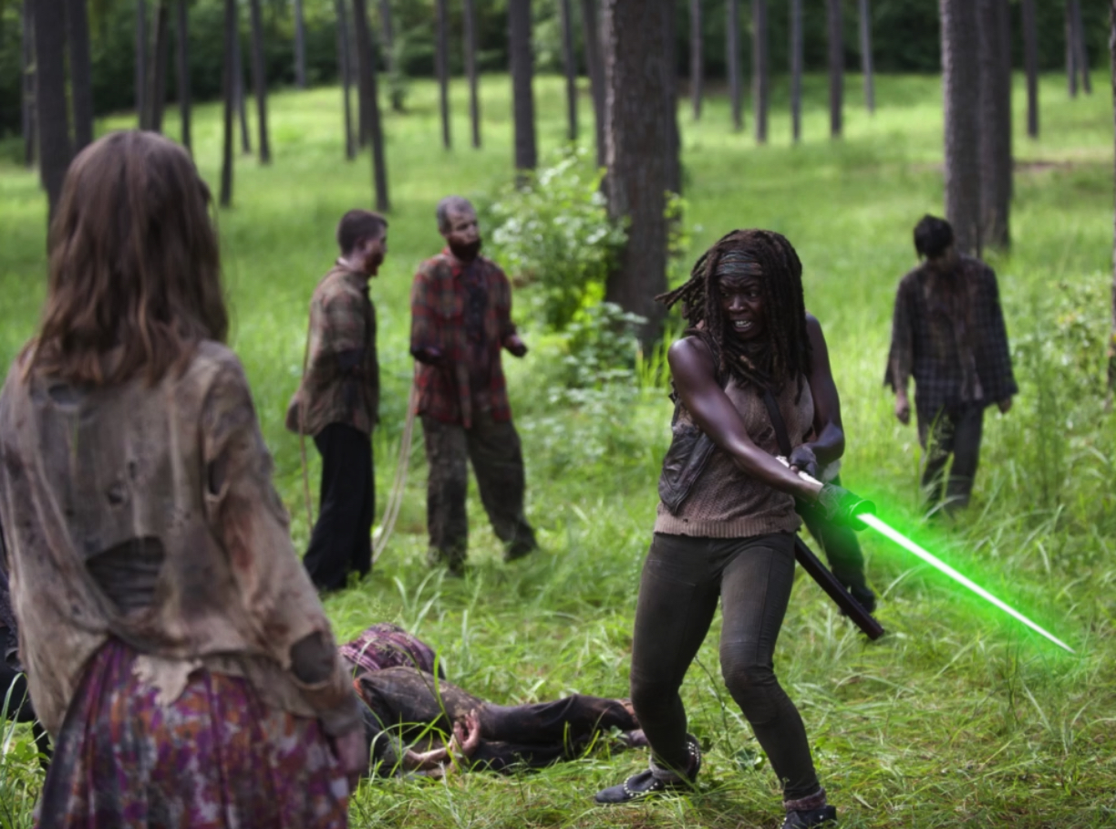 Horror Movies With Lightsabers - The Walking Dead