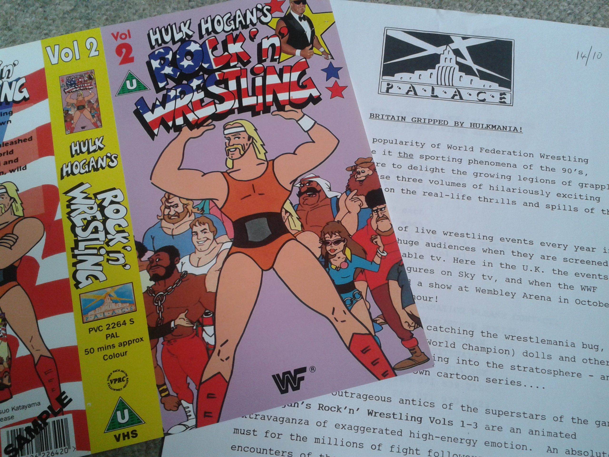 Hulk Hogan Cartoon - VHS Promo Sleeve