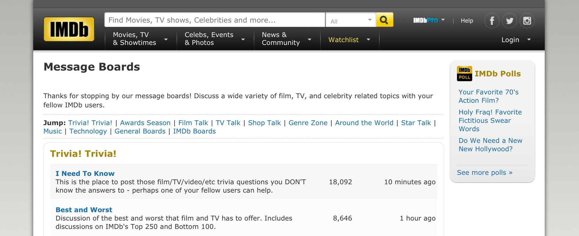 IMDb Boards