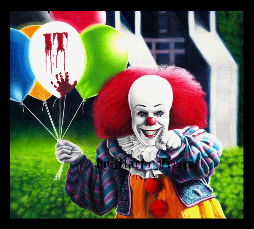 IT At 25 : Mario Freire Pennywise Art
