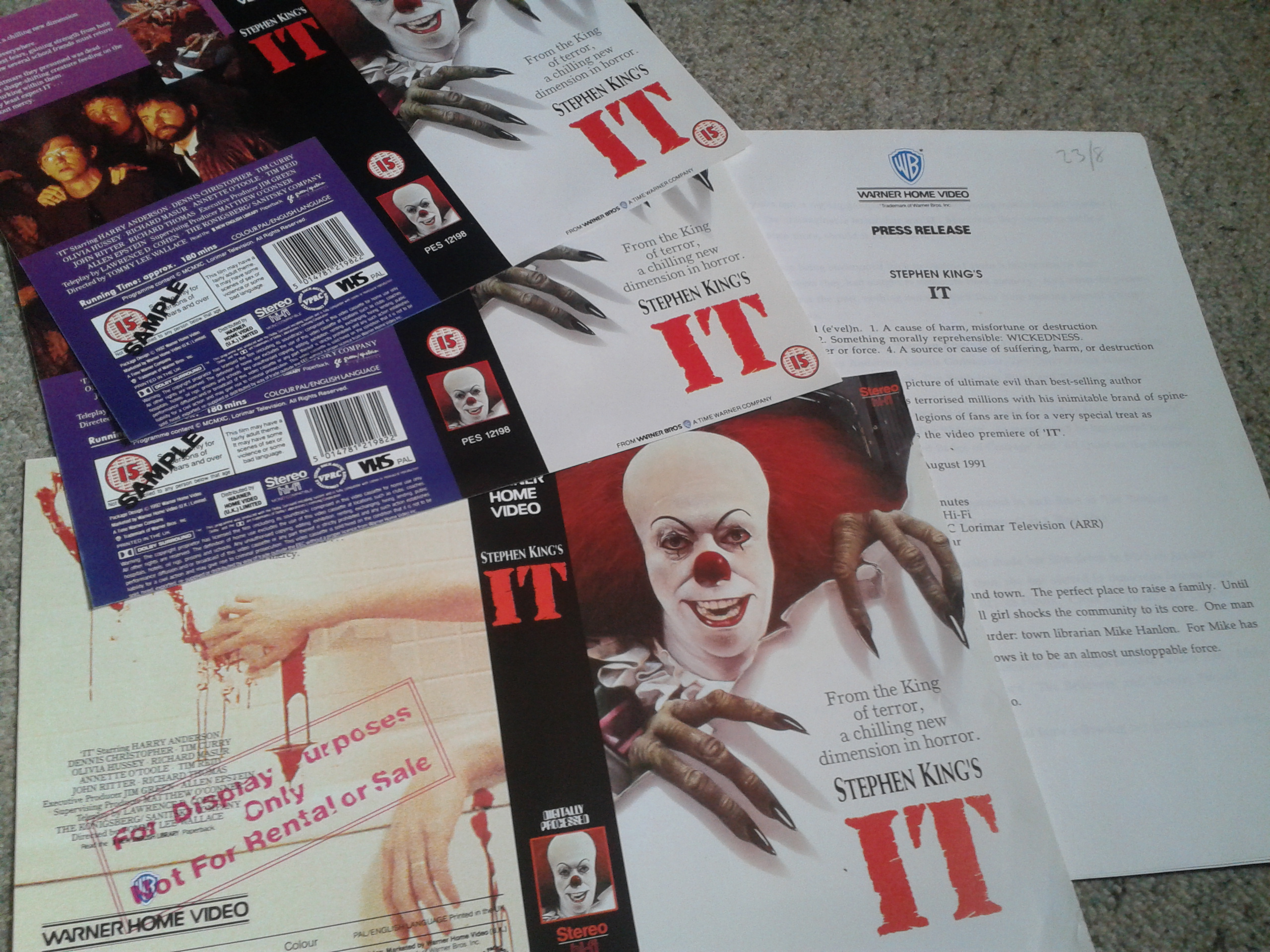 IT - VHS Promo Sleeves