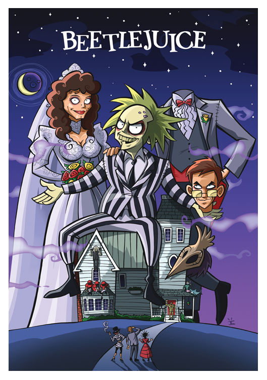 Beetlejuice Cartoon Poster