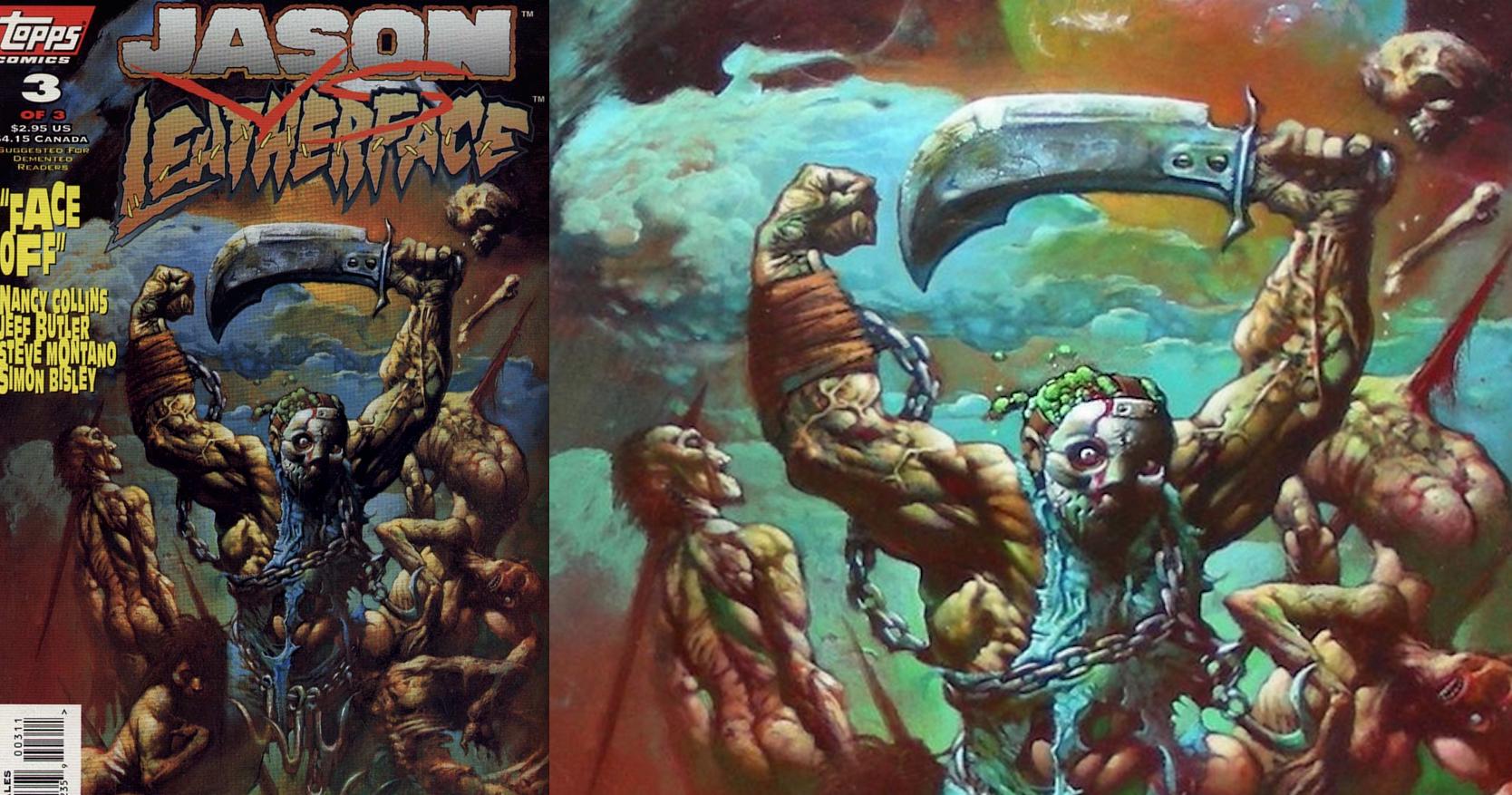 Jason Vs Leatherface 3 Bisley Cover Art
