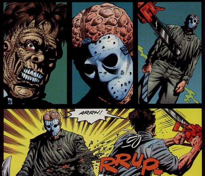 Jason Vs Leatherface Interior Art